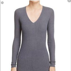 Kate Spade Saturday Gray V Neck Sweater Sz S